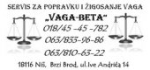 Servis VAGA-BETA Niš